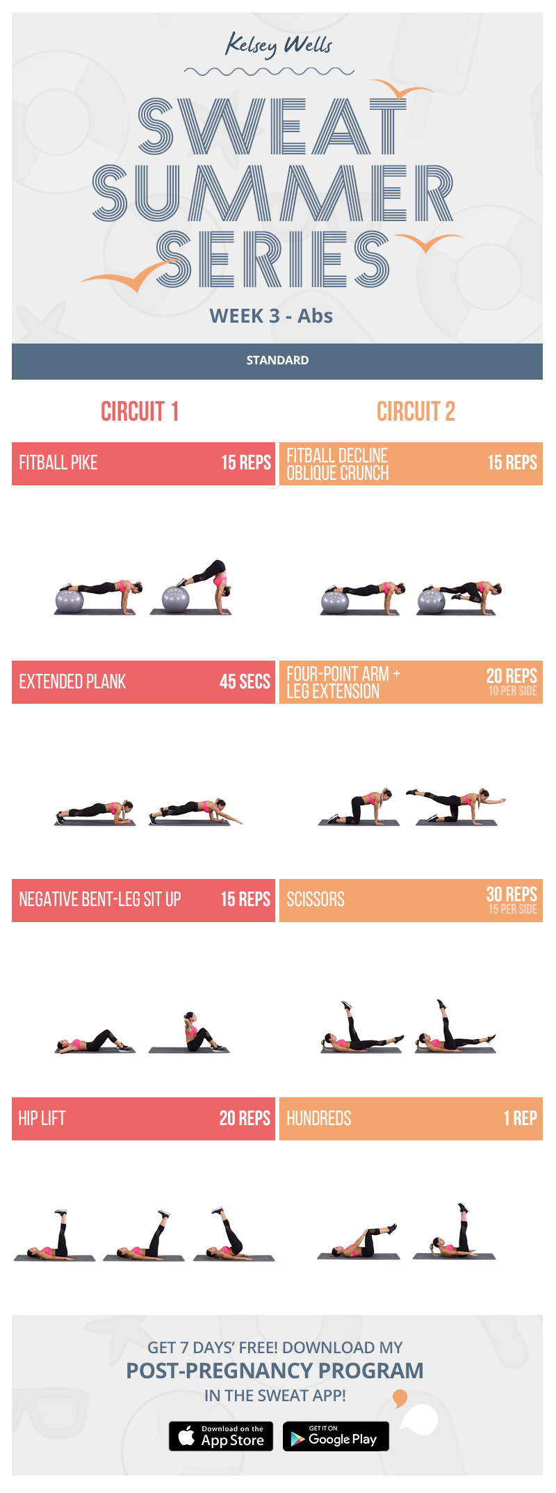 Kelsey Wells PWR Ab Workout