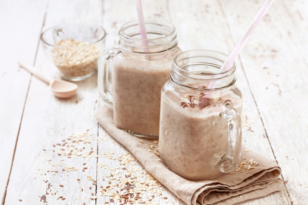 Almond Oatmeal Cookie Batter Protein Shake
