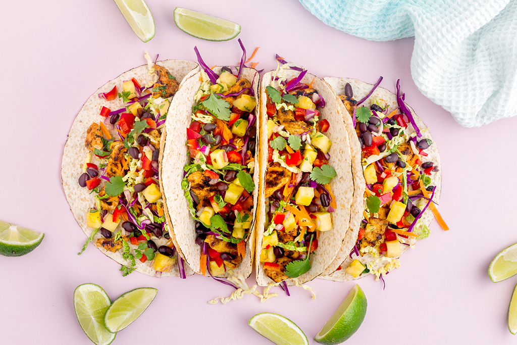 Caribbean Chicken Tacos with Pineapple Salsa Recipe
