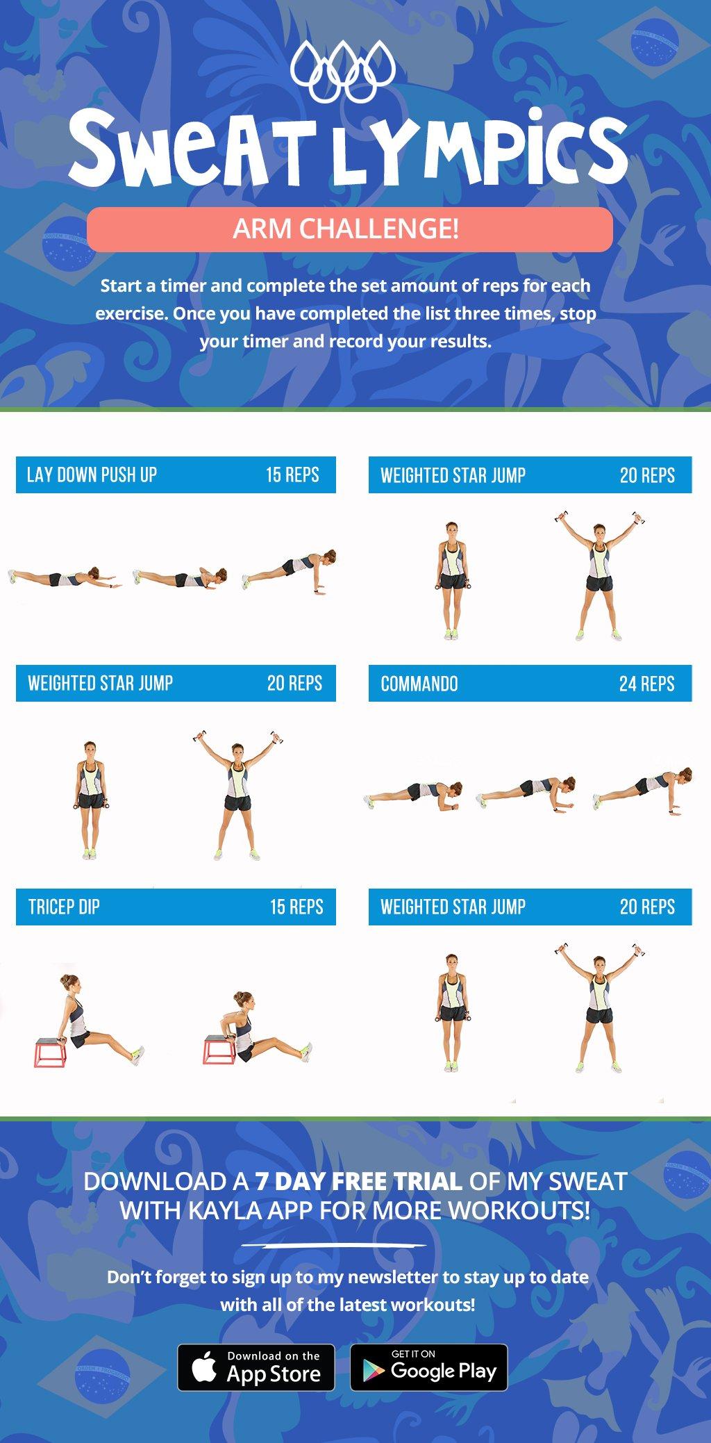 Sweatlympics Arm Challenge!