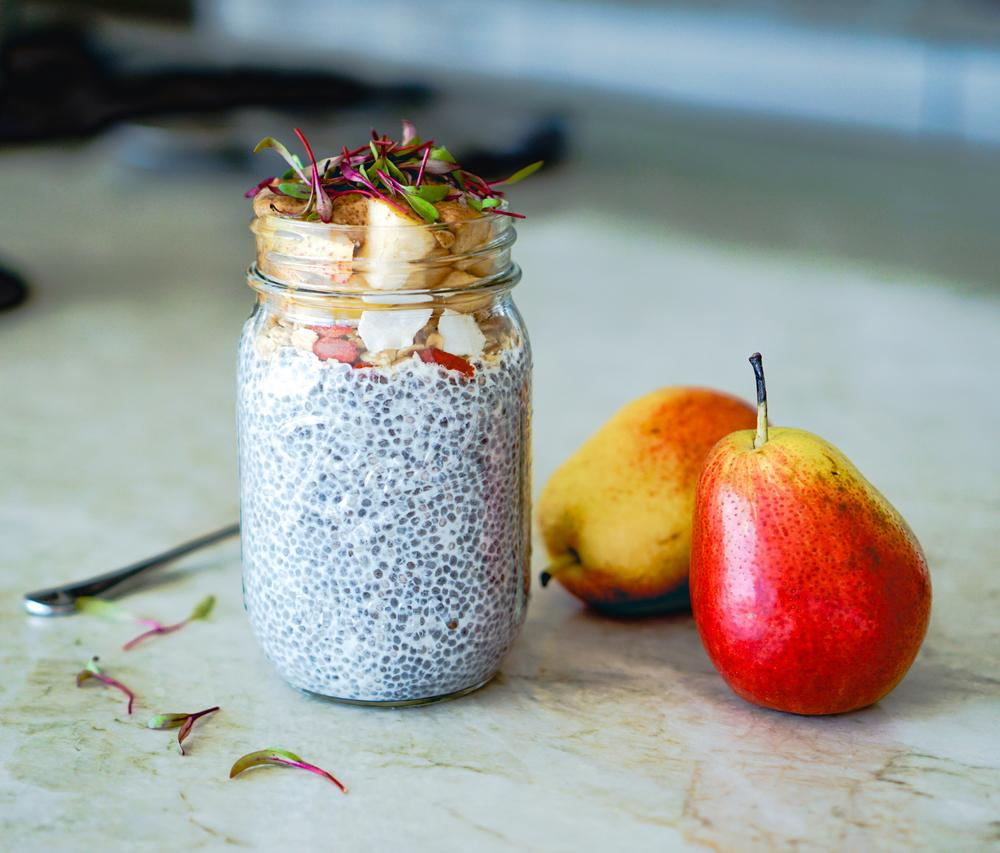 Healthy Pear Chia Seed Pudding Recipe