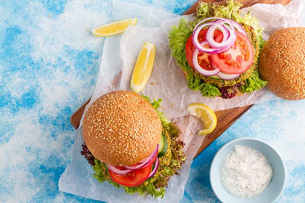 Mediterranean Chickpea Burger Recipe