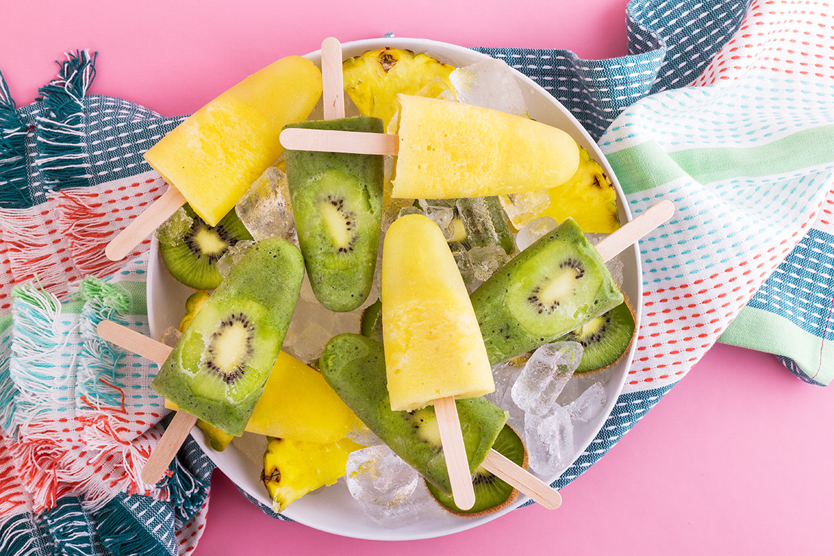 Green & Gold Popsicle Recipe