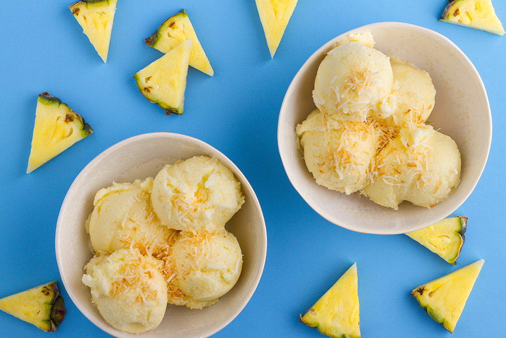 Healthy Pineapple Sorbet Recipe
