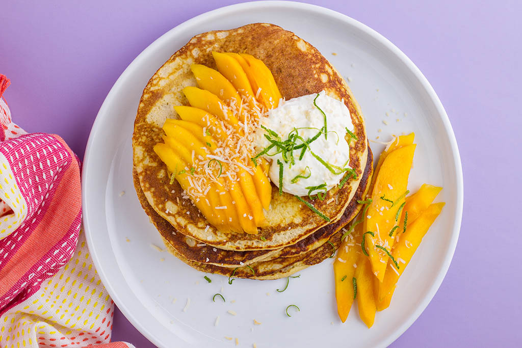 Cottage Cheese and Coconut Pancakes Recipe