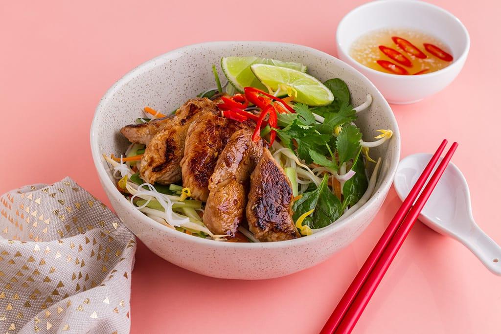 Vietnamese-Style Pork Noodle Salad Recipe