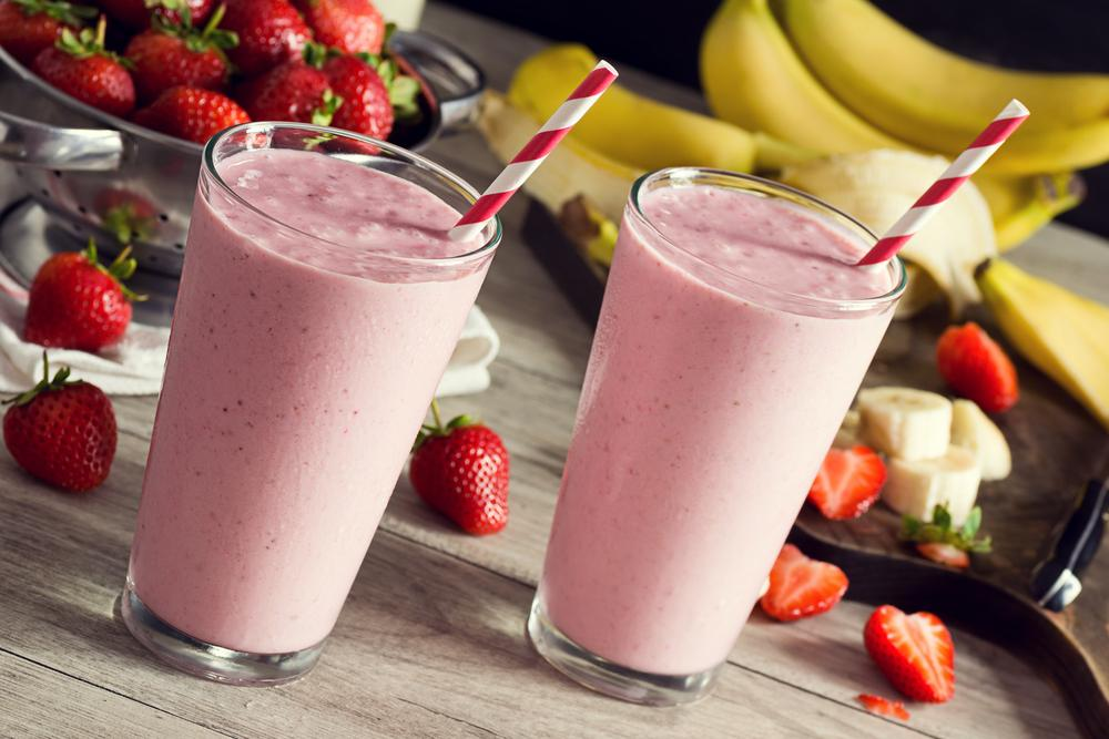 Strawberry Banana Post-Workout Smoothie
