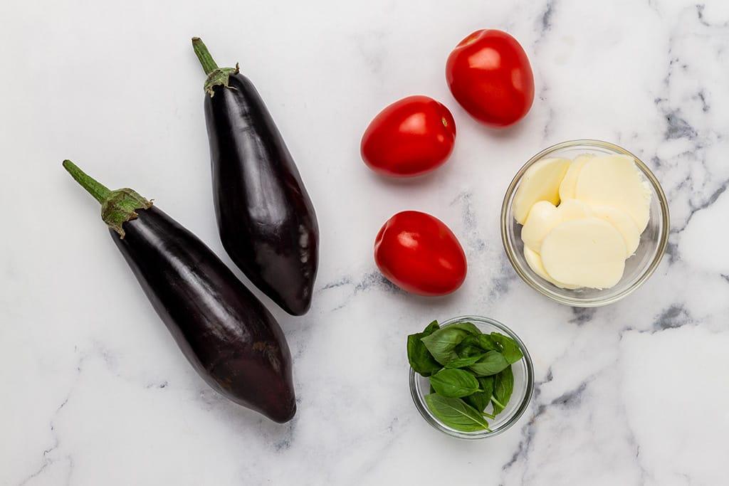 Eggplant Caprese Salad Ingredients