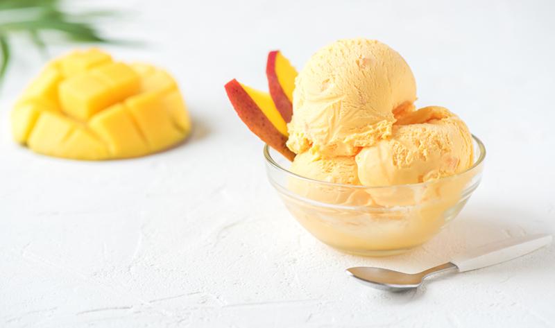 Mango And Macadamia Nice Cream