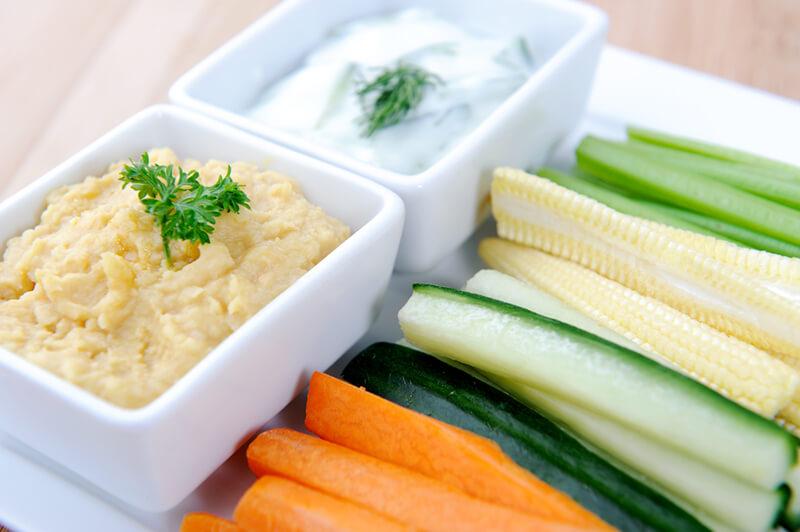 Hummus Late Night Snack Idea