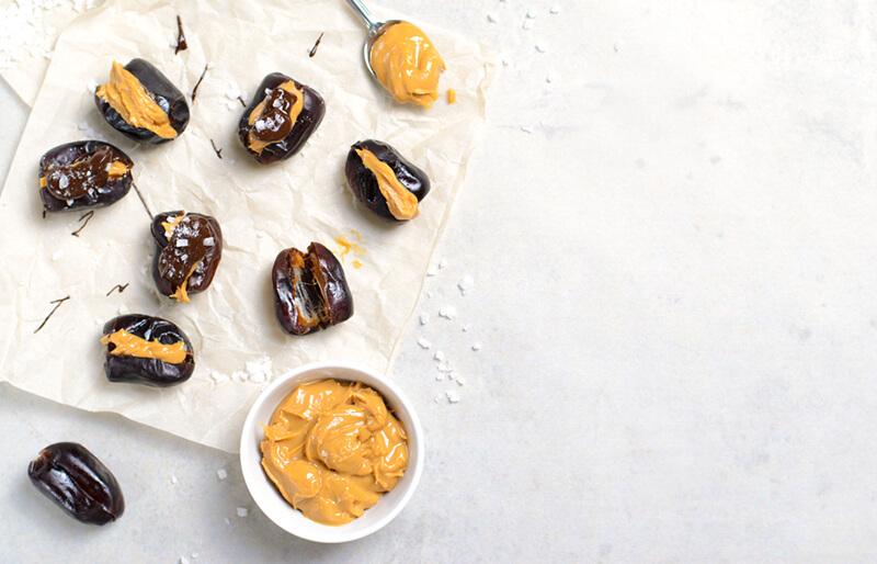 Date With Peanut Butter Snack Idea