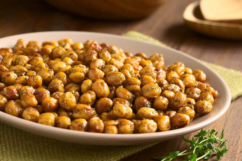 Baked Chickpeas Healthy Late Night Snack