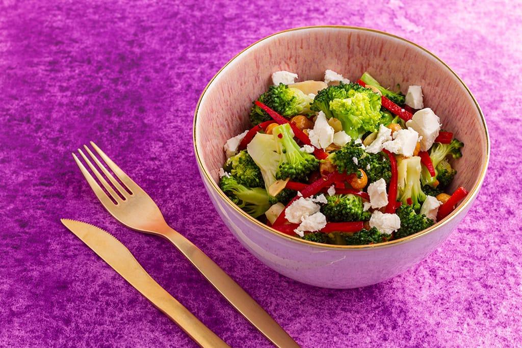 Broccoli Salad With Lemon Chilli Dressing