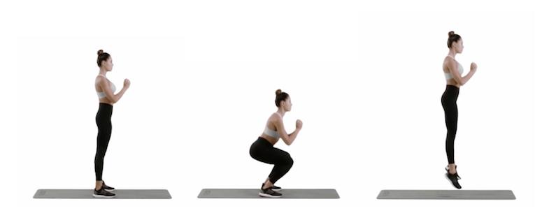 Kelsey Wells Workout Jump Squat