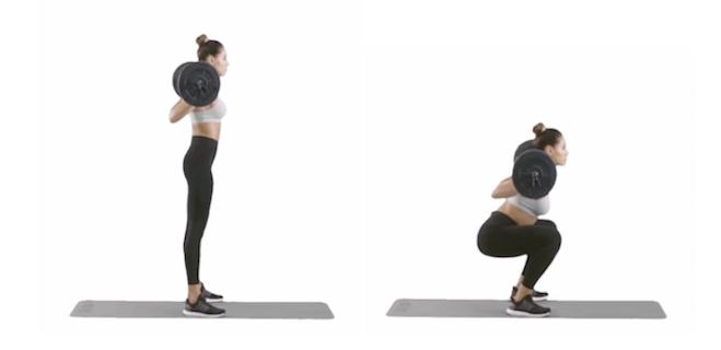 Kelsey Wells Workout Barbell Squat