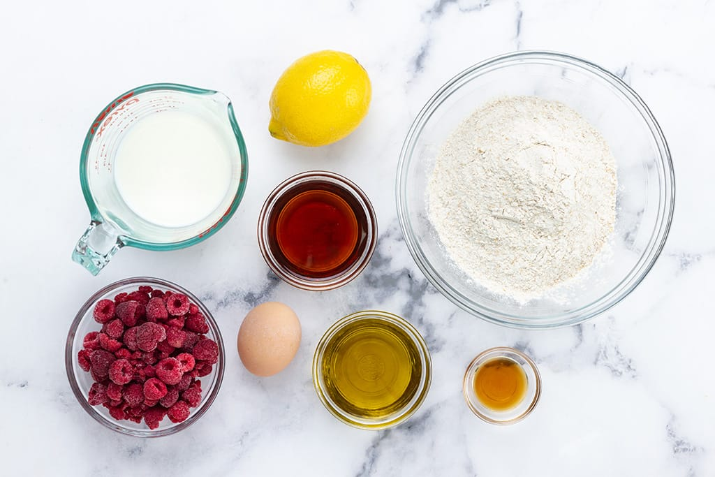 Raspberry Muffin Ingredients
