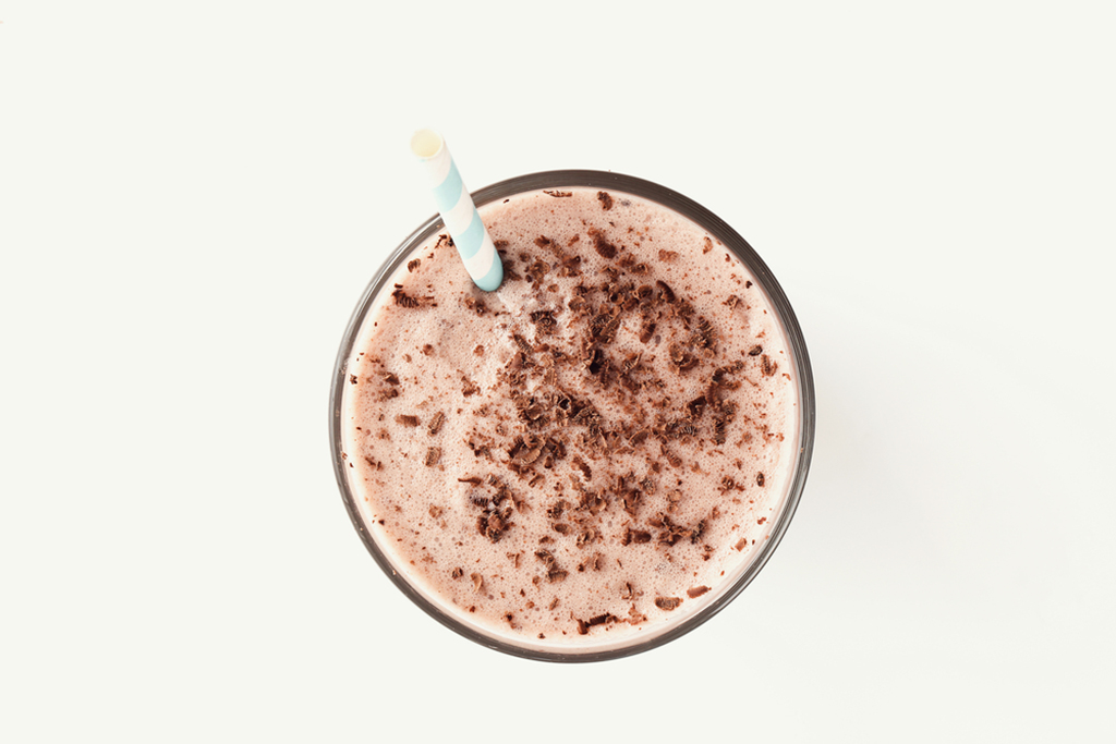 Chocolate Protein Milkshake Smoothie
