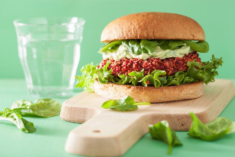 Beetroot and Quinoa Burger