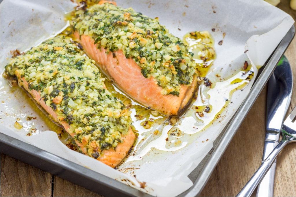 Baked Salmon & Asparagus Recipe