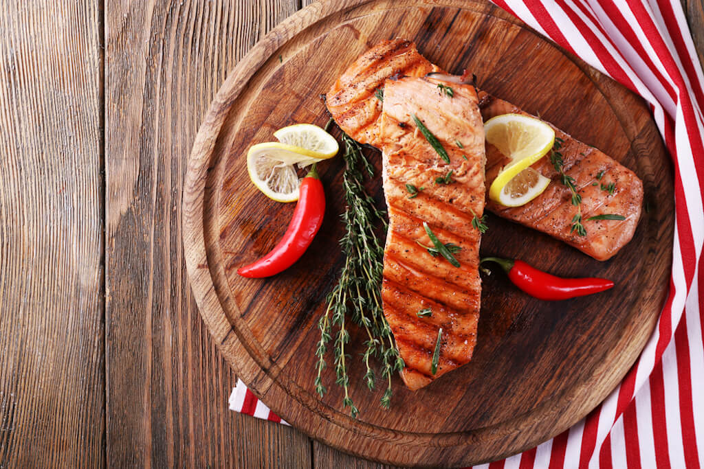 Salmon is an energy rich food